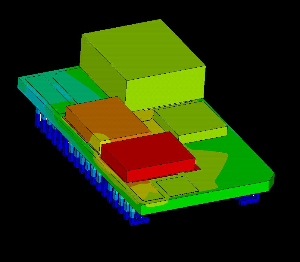 Temperaturfeld Elektronikkomponenten