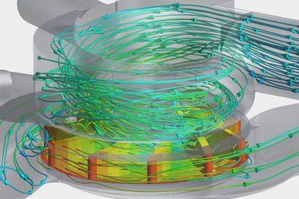 OptimumOne hat mittels CFD-Simulation eine Pumpe berechnet und optimiert.