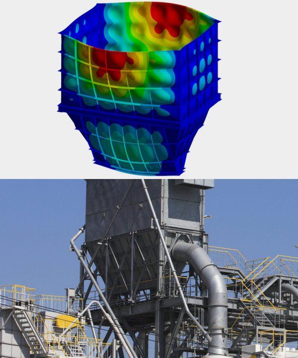 Die OptimumOne GmbH berechnet Explosionsdruckstoßfestigkeit nach DIN EN 14460 als FEM-Dienstleister