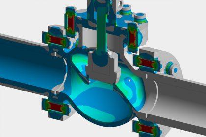 FEM-Simulation und Festigkeitsnachweis gemäß Druckgeräterichtlinie AD2000 einer Armatur durch die OptimumOne GmbH