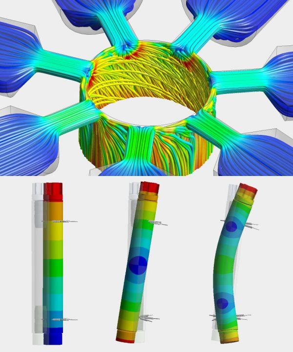 Optimierung eines Luftlagers mittels Strömungs- und Schwingungssimulation durch OptimumOne.