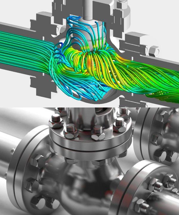Die OptimumOne GmbH hat im Kundenauftrag den Druckverlust eines Ventils berechnet.