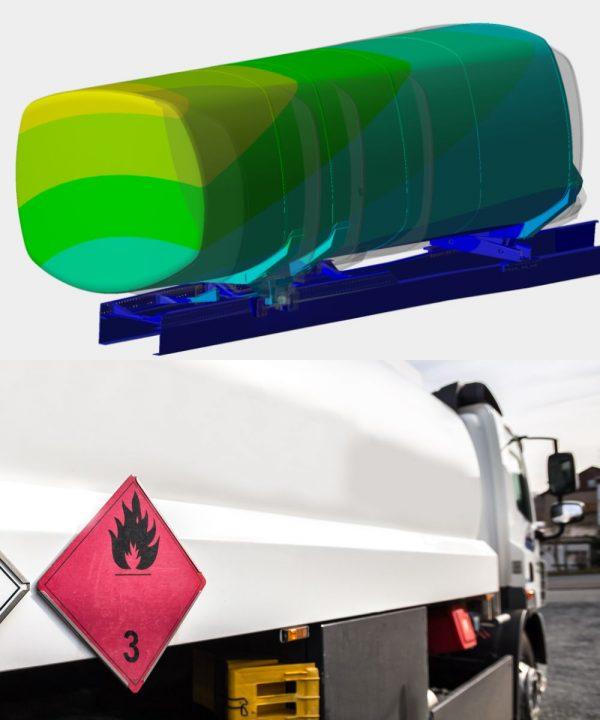 OptimumOne führt FEM-Simulation für Gefahrgut Tankaufbau nach ADR durch
