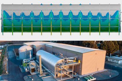OptimumOne erstellt Erdbebenberechnung und Standsicherheitsnachweis eines Fermenters mittels FEM-Simulation