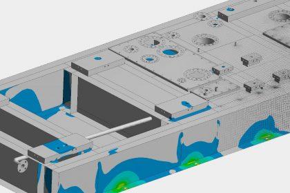 Erdbebensimulation und Standsicherheitsnachweis eines Grundrahmens für eine Gasturbine von OptimumOne