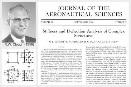 Clough hat den Namen Finite-Elemente-Methode geprägt und seine Publikation wird oft als die erste Publikation in der Geschichte der FEM angesehen
